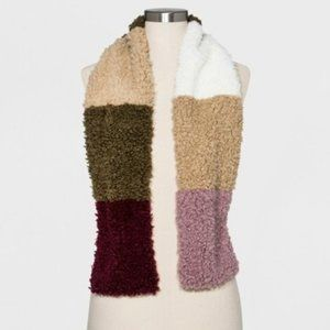 🆕 Universal Thread Faux Sherpa Colorblock Collar